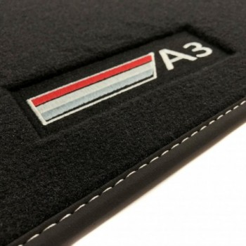 Tapis Audi A3 8V Hatchback (2013 - actualité) Velour logo