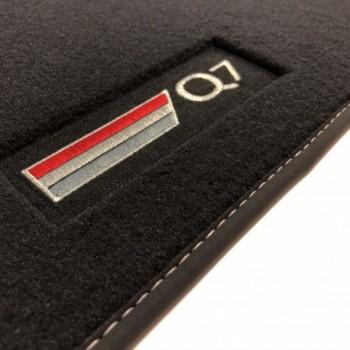 Tapis Audi Q7 4M 7 sièges (2015 - actualité) Velour logo
