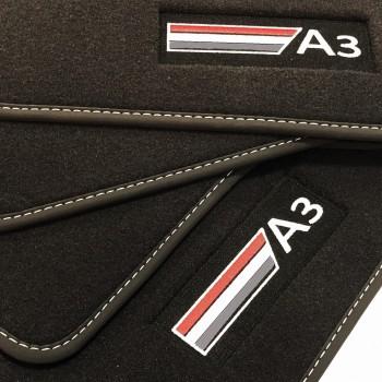 Tapis Audi A3 8P7 Cabriolet (2008 - 2013) Velour logo