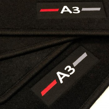 Tapis Audi A3 8VA Sportback (2013 - actualité) logo sur mesure