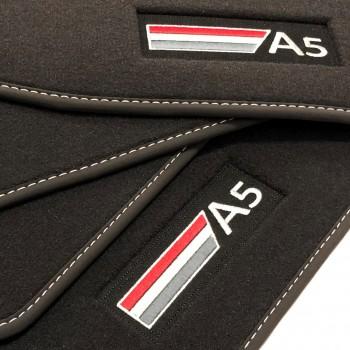 Tapis Audi A5 F57 Cabriolet (2017 - actualité) Velour logo