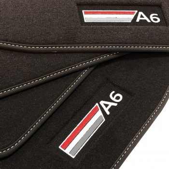 Tapis Audi A6 C6 Restyling Allroad Quattro (2008 - 2011) Velour logo