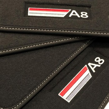 Tapis Audi A8 D5 (2017-actualité) Velour logo
