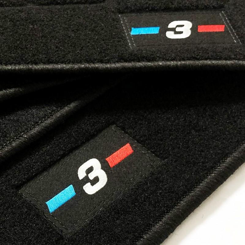 Tapis Bmw Série 3 E46 Touring Qualité Origine Velours 750g//m² Broderie Logo M3