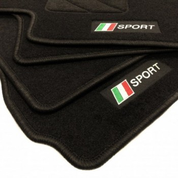 Tapis de sol drapeau Italie Fiat 124 Spider
